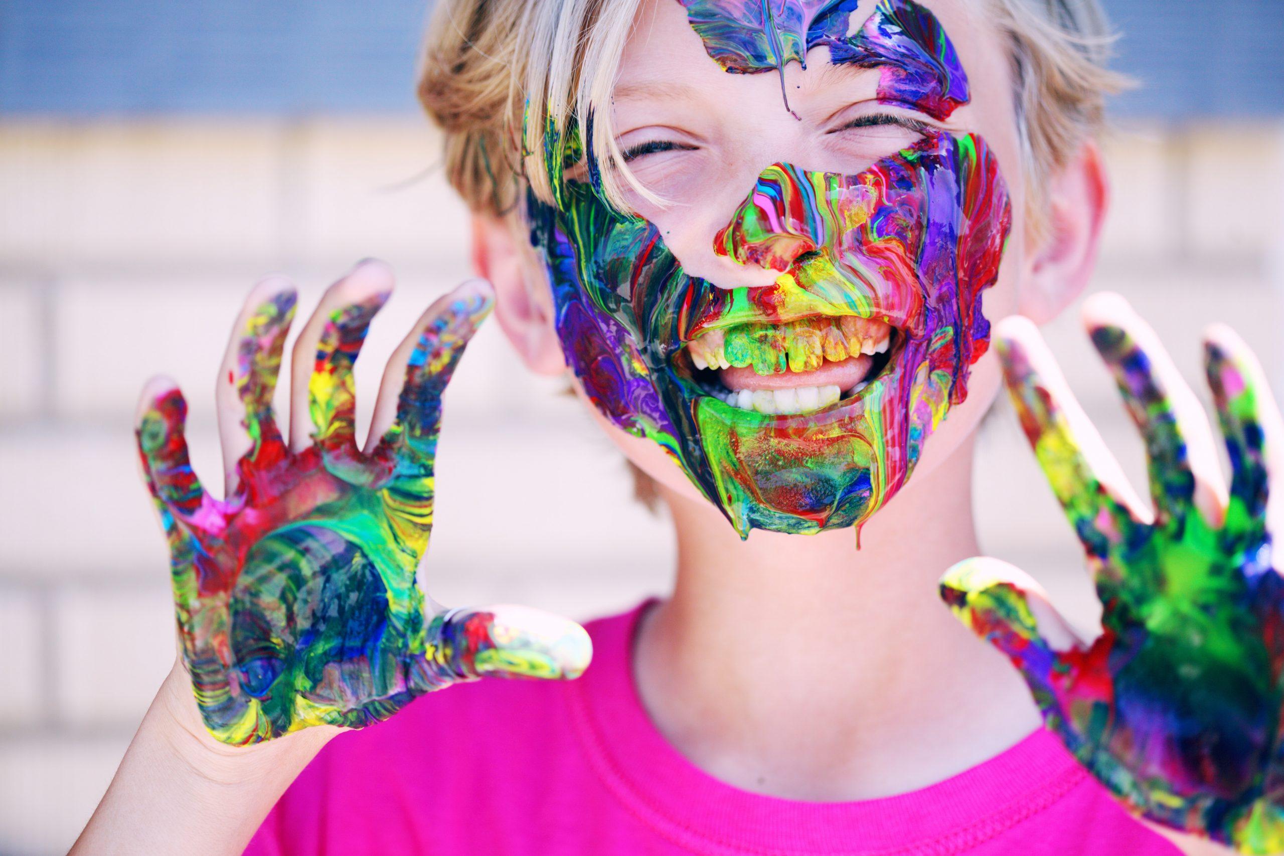 peinture comestible, une activité pour occuper ses enfants