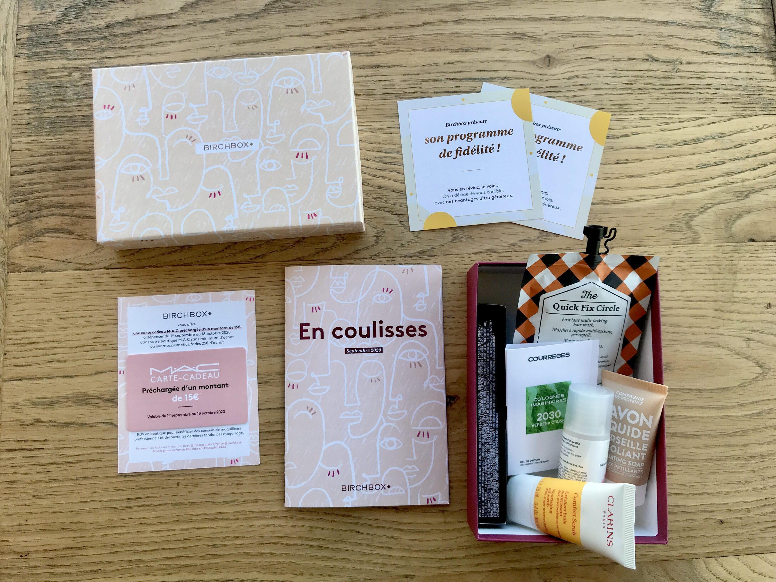 birchbox septembre 2020 en coulisses