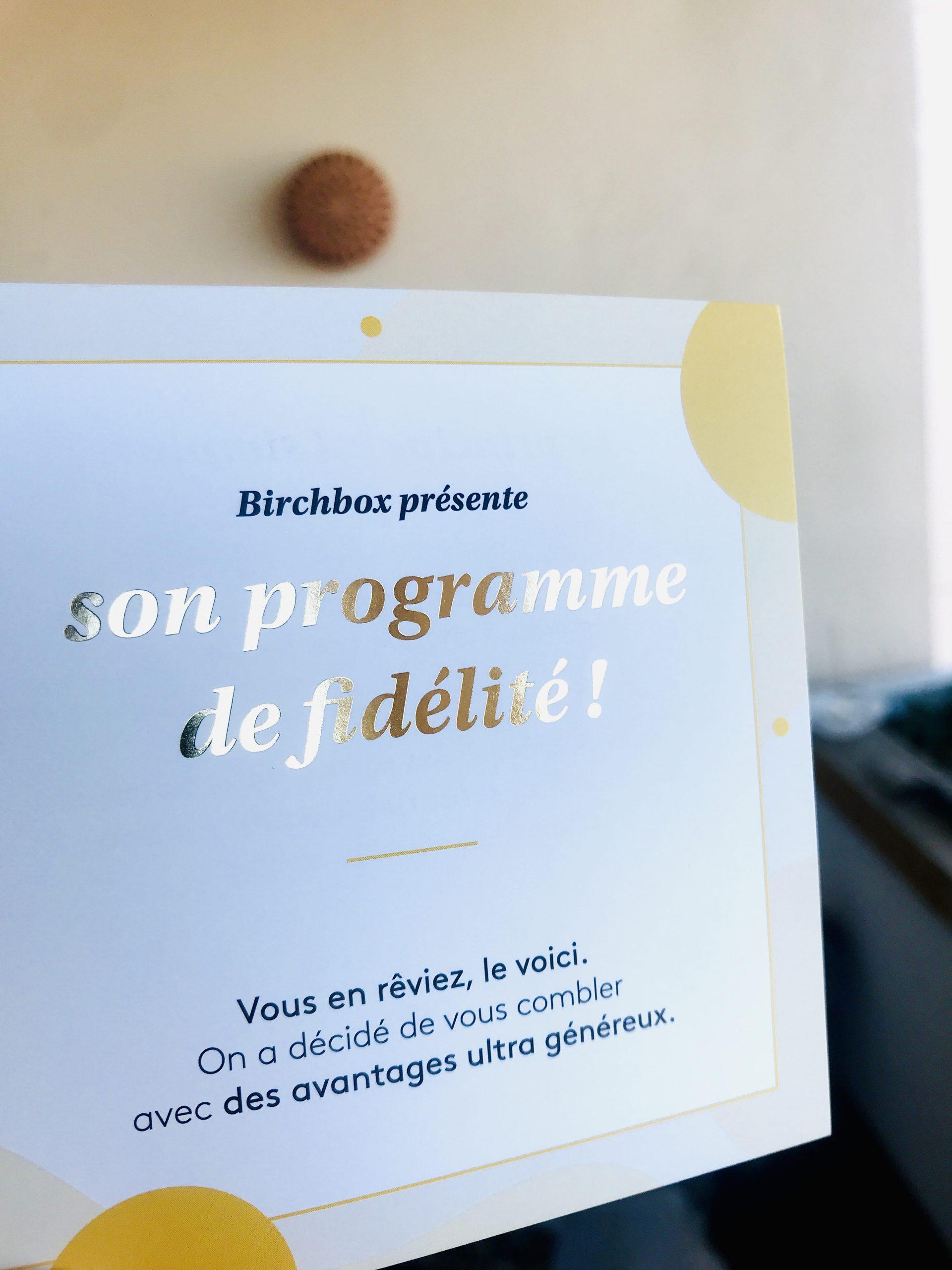 programme fidélité birchbox